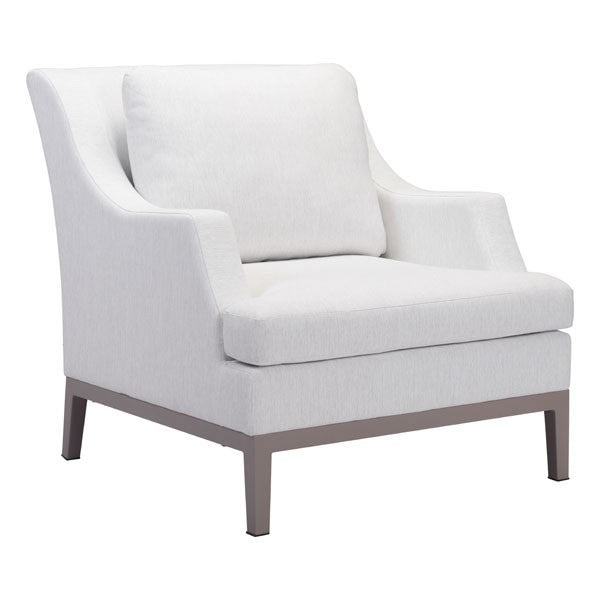 Zuo Ojai Arm Chair Champagne White