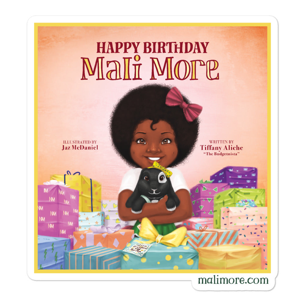 Happy Birthday Mali More Bubble-free stickers