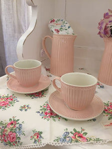 Cup e Piattino Alice rosa