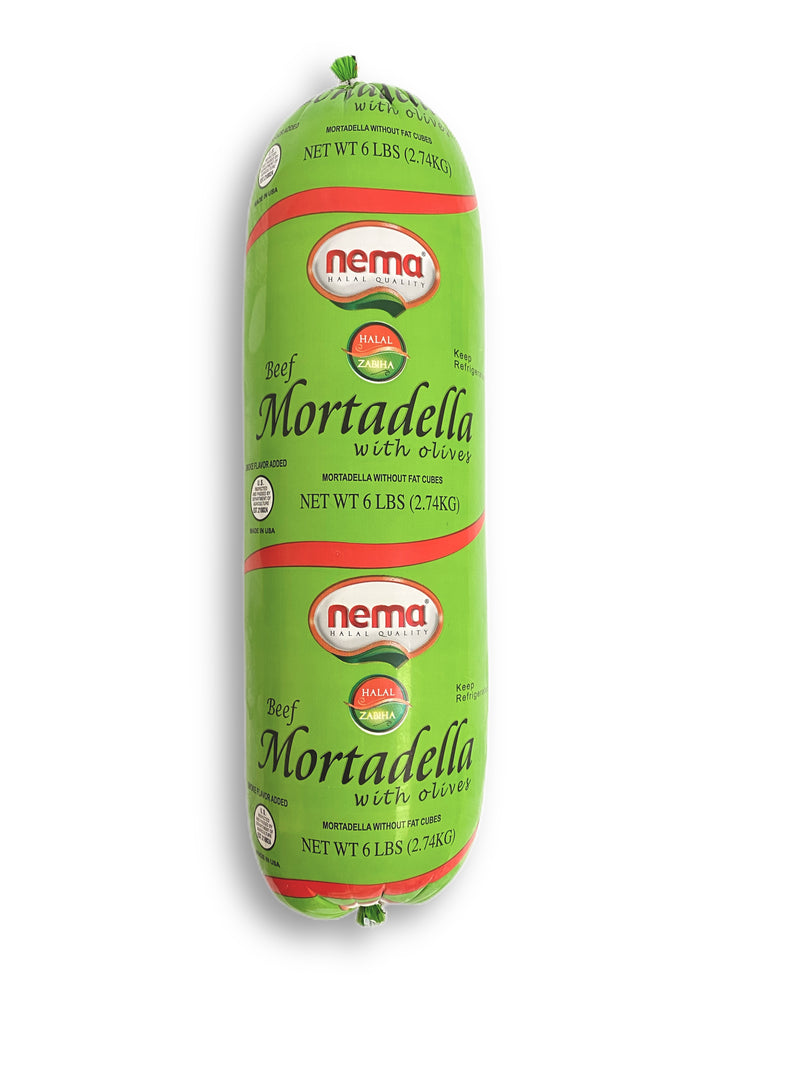 Nema Beef Mortadella with Olives-Big Size (3 x 6 lb)