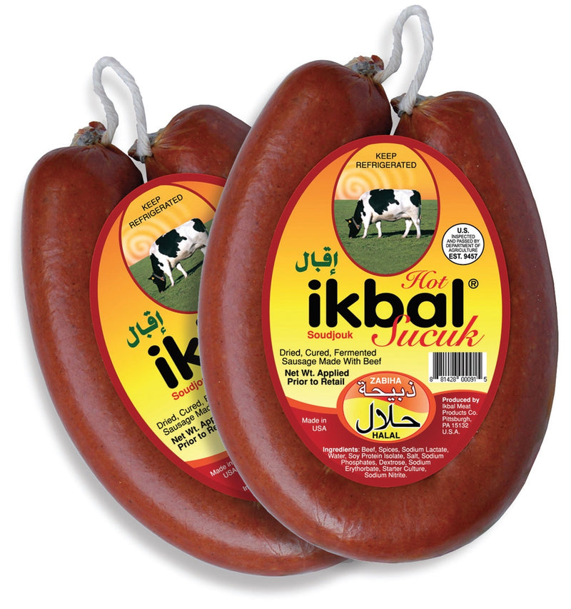 Ikbal Ring Beef Soudjouk - Hot - 10 oz.