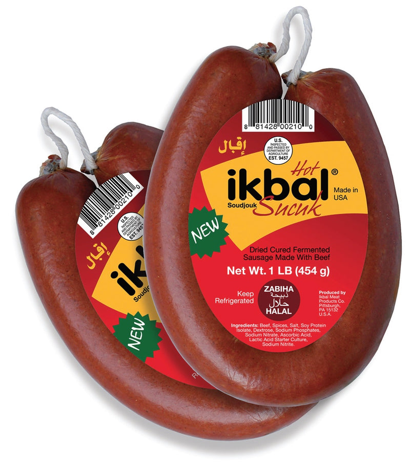 Ikbal Ring Beef Soudjouk-Hot- 1 lb.
