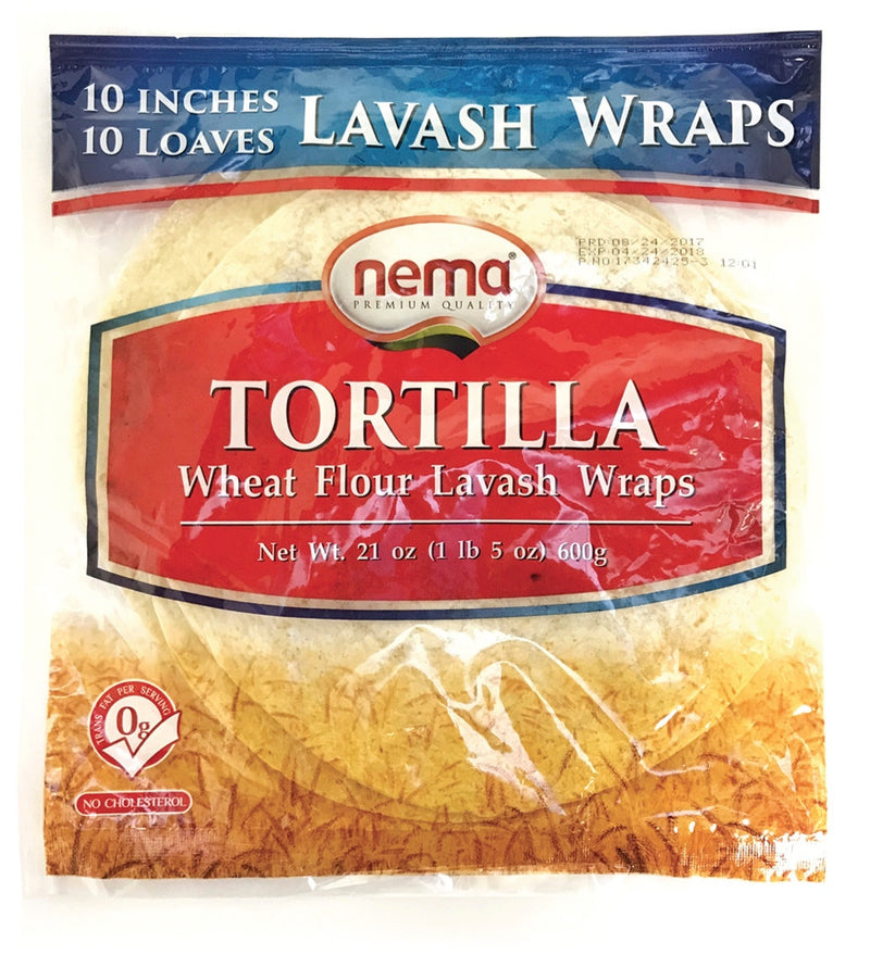 Tortilla Lavash Wraps 10""
