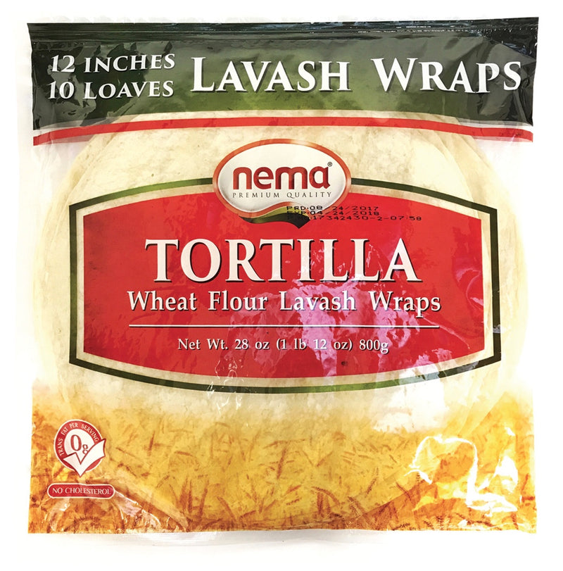 Tortilla Lavash Wraps 12""