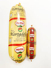 Nema Beef Mortadella with Pistachios-Big Size (3 x 6 lb)