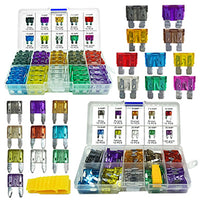 Mupera 220PCS Car Blade Fuses Assortment Kit - Automotive Standard & Mini (2A/3A/5A/7.5A/10A/15A/20A/25A/30A/35A) Assorted Fuse with Puller Tool, Replacement Car RV SUV Truck Camper Fuses
