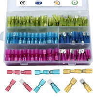 Mupera 220 PCS Heat Shrink Wire Spade Connectors - Heat Shrink Female Male Spade Terminals, Electrical Crimp Connector Kit