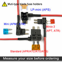 Mupera 4 Types 12V Add-a-Circuit Adapter & Fuse Kit - Fuse Tap Fuse Holder with MICRO2 Mini ATC ATS Low Profile Tap dapter for Cars Trucks Boats (12 Pack)