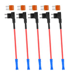 Mupera Micro2 ATR Blade Fuse Holder - Fuse Tap 12V Car Add-a-circuit Fuse TAP Adapter with 5 Amp Micro2 Blade Fuse (5 Pack)