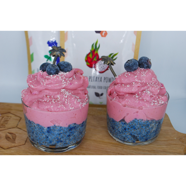 Blauwe chia pudding recept