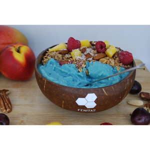 Blue spirulina smoothiebowl recept
