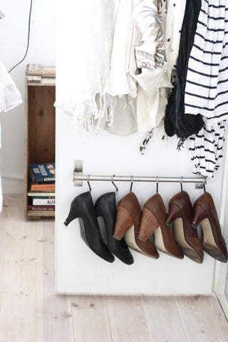 DIY hanger shoe rack