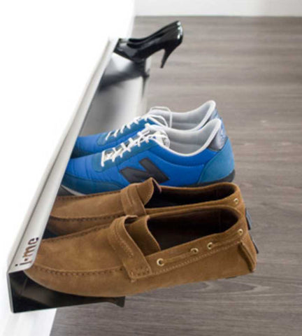 L'emile et son metal shoe rack