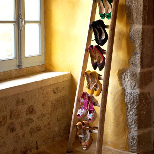 Ladder shoe rack design