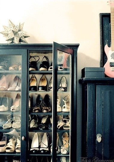 cabinet display shoe rack