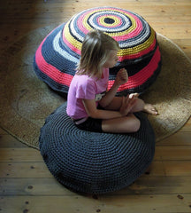 Crochet Floor Cushion 100cm
