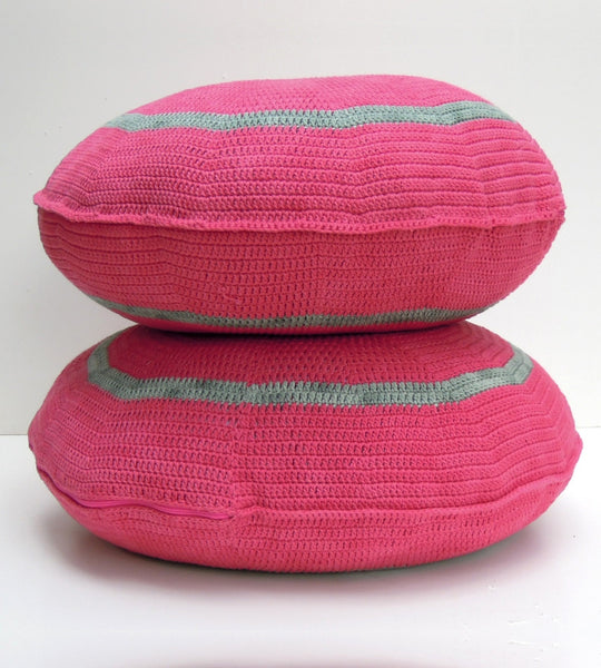 Round Cotton Yarn Cushion 50cm