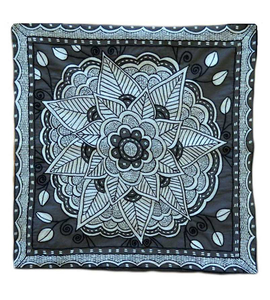Cushion Cover - Cream & Black