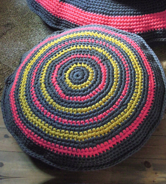 Crochet Floor Cushion 80cm