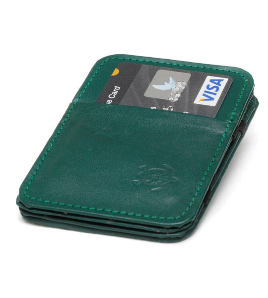 Green Cow Hide Magic Wallet