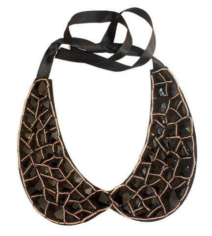 Beaded Collar Black