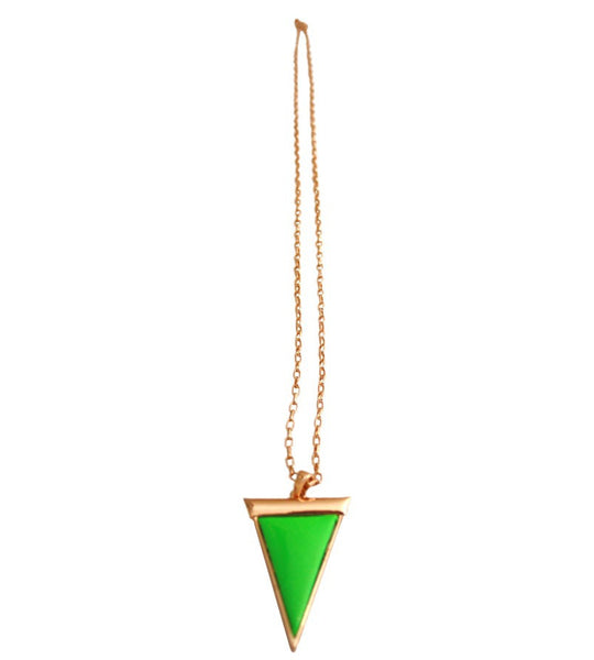 Green and Gold Triangle Pendant