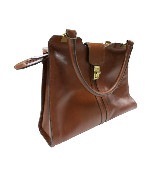 Ladies Tan Leather Handbag