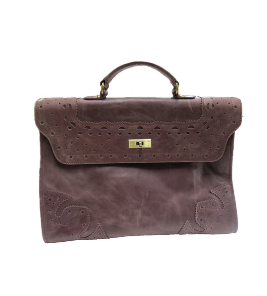 Ladies Lilac Leather Bag