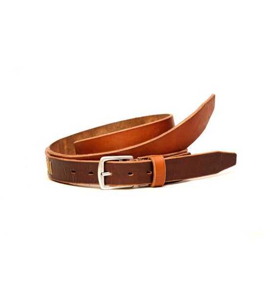 Two Tone Belt - Tan & Dark Brown