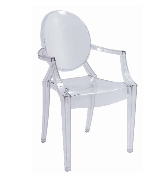 Oval arm chair - clear