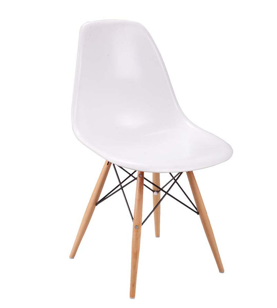 Emu wood chair - white