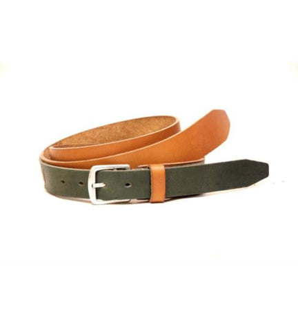Two Tone Belt - Tan & Green
