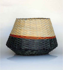 Woven Basket - Blue & Natural