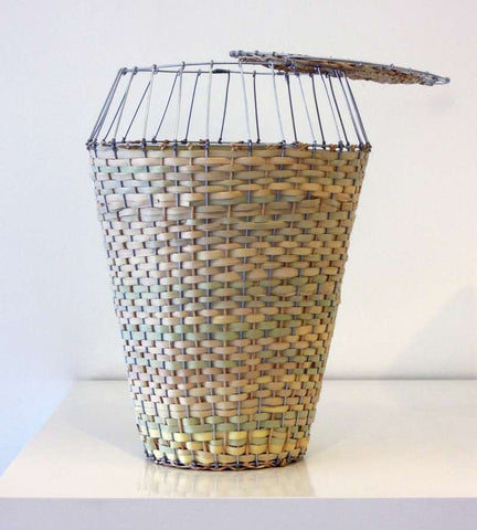 Woven Basket With Lid - Natural
