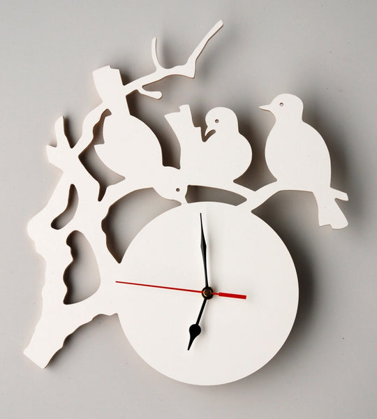 Chinoiserie Clock White