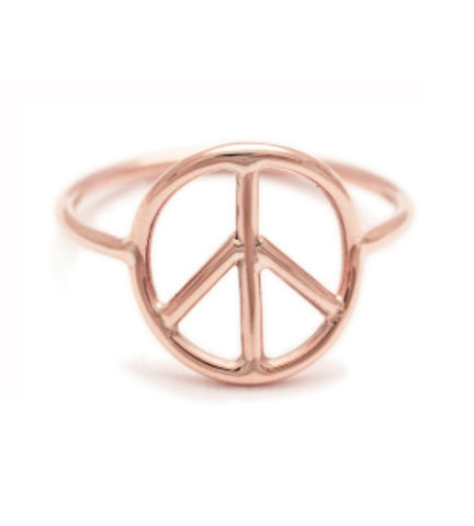 Delicate Peace Ring Rose