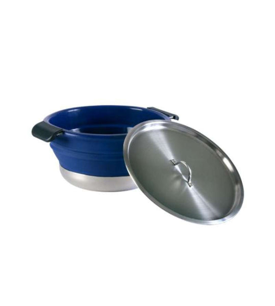 Collapsible Stew Pot Blue