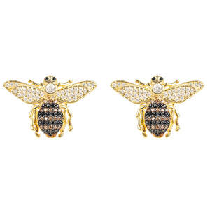 Honey Bee Stud Earrings Gold