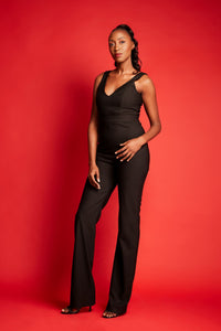 Lotus V-neck Jumpsuit