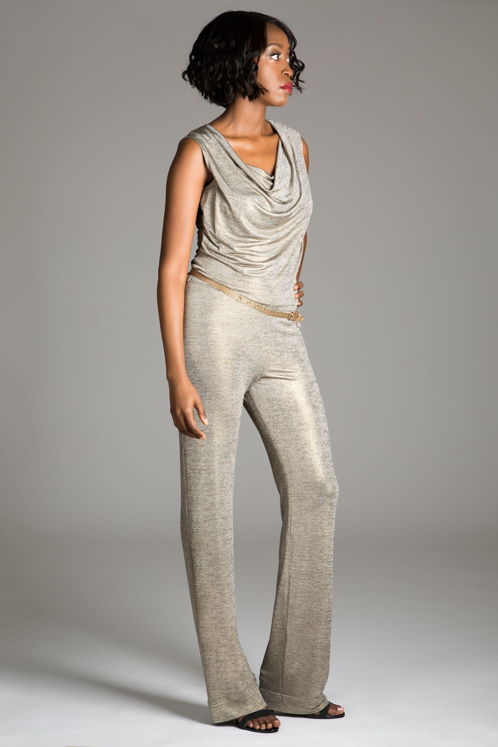 Dahlia Cowl Neck Jumpsuit
