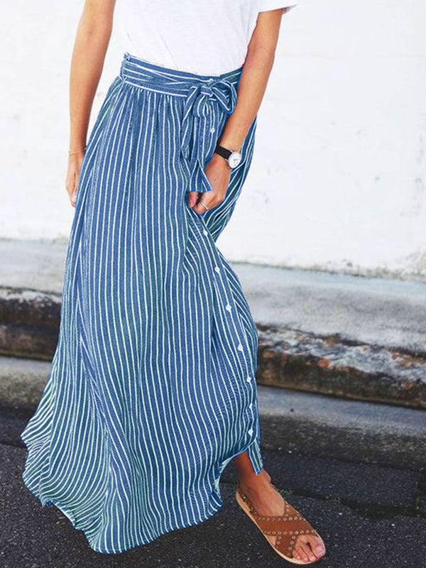 Casual Striped Skirts