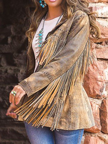 Boho Tassel Leather Jacket