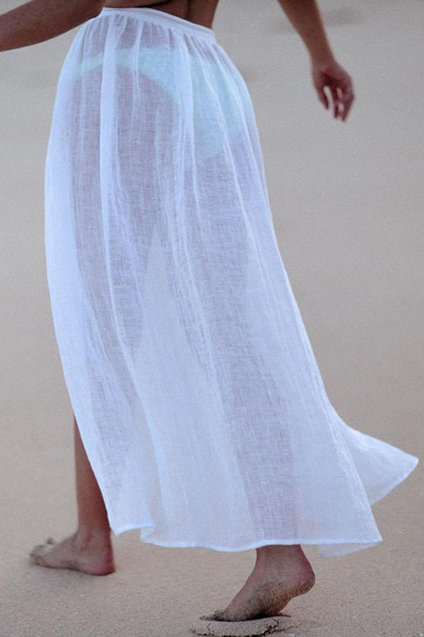 Solid Color Beach Seaside Strappy Skirt
