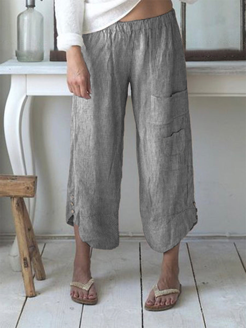 Casual Summer Stripes Boho Pants