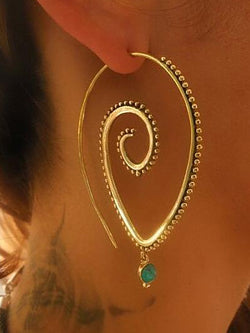Womens Exaggerated Round Alloy Earrings