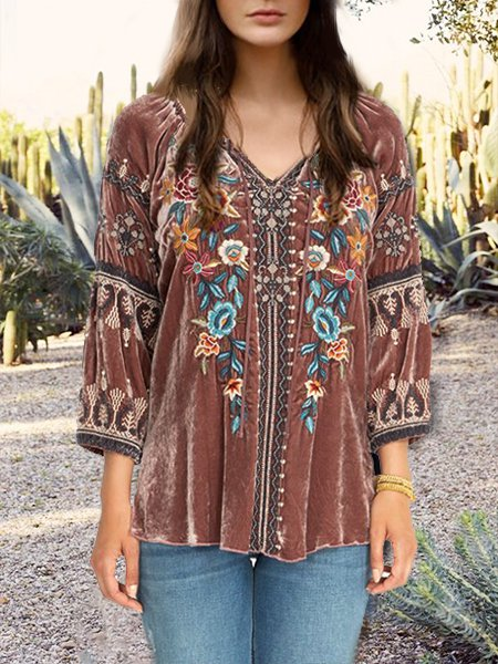 Tribal Vintage Velvet Tops