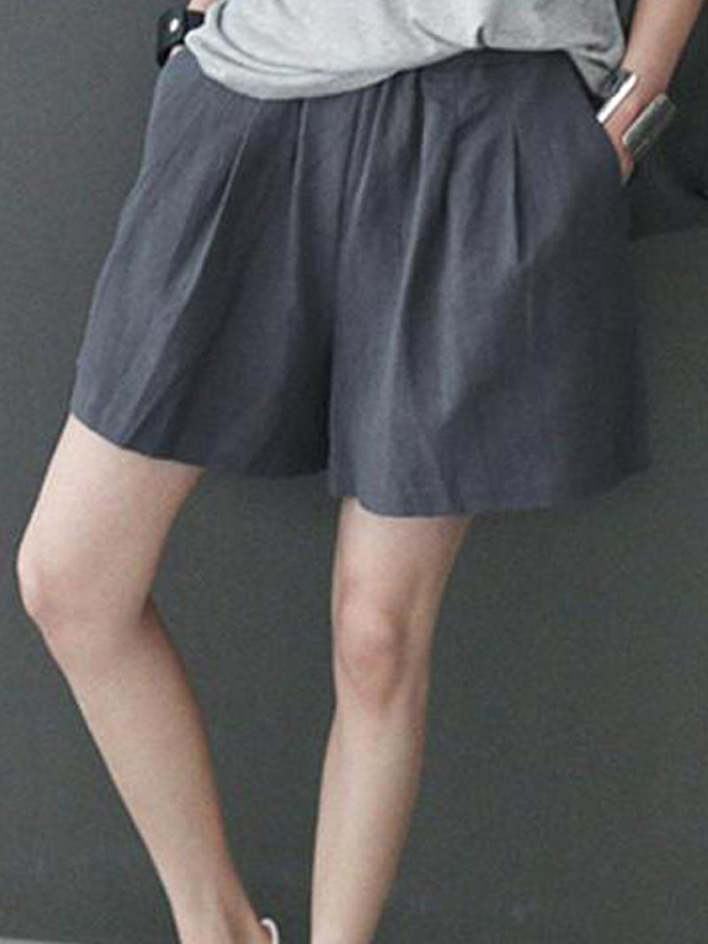 Five Pants Casual Loose Linen Shorts