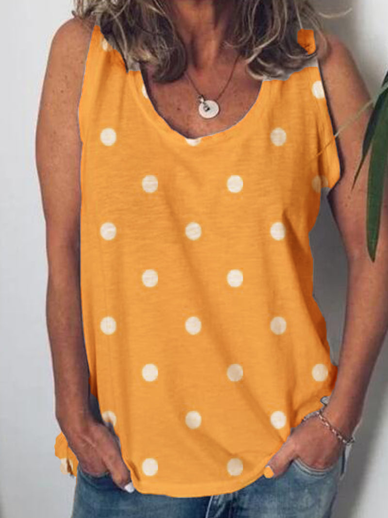 Casual Sleeveless Cotton-Blend Shirts & Tops