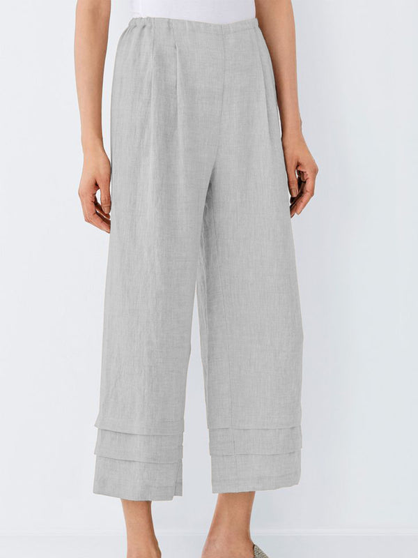 Simple & Basic Cotton-Blend Pants