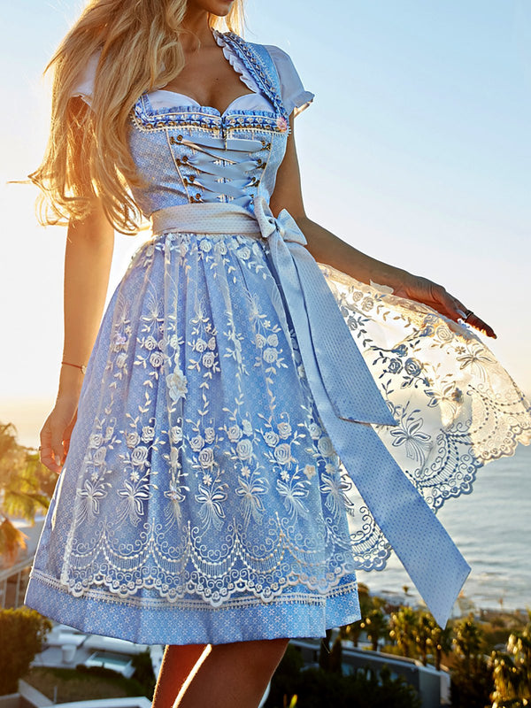 Sweet Oktoberfest Dirndl Lace Dresses Cosplay Costume
